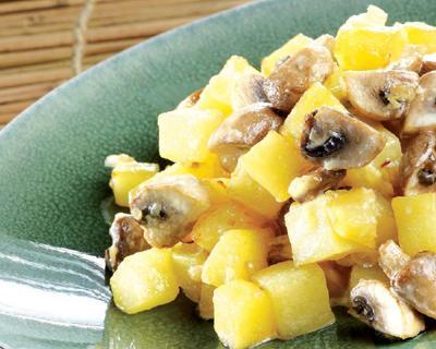 Patatas con champiñones