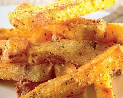 Patatas-fritas-con-almedras