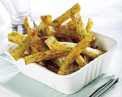 Patatas fritas con eneldo