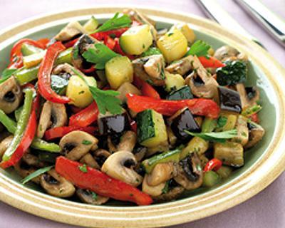 Salteado de verduras mediterráneo