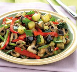 Verduras fritas al estilo mediterráneo